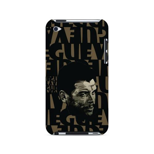 Che Guevara Serious Man on Brown - Geeks Designer Line Revolutionary Series Hard Case for Apple iPod Touch 4