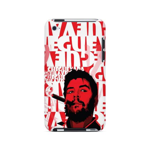 Che Guevara Smoke Red - Geeks Designer Line Revolutionary Series Hard Case for Apple iPod Touch 4