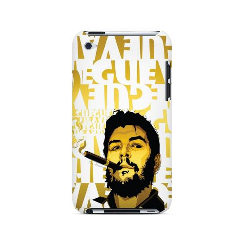 Che Guevara Smoke White Letters on Gold - Geeks Designer Line Revolutionary Series Hard Case for Apple iPod Touch 4