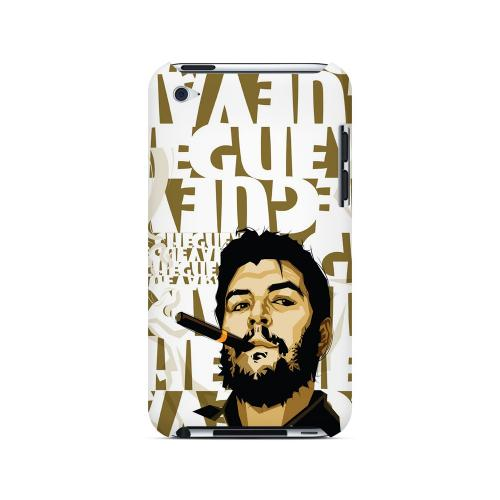 Che Guevara Smoke White Letters - Geeks Designer Line Revolutionary Series Hard Case for Apple iPod Touch 4