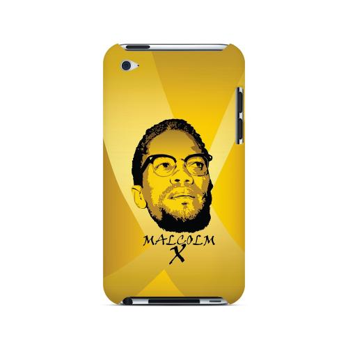 Malcolm X in the Middle on Yellow - Geeks Designer Line Revolutionary Series Hard Case for Apple iPod Touch 4