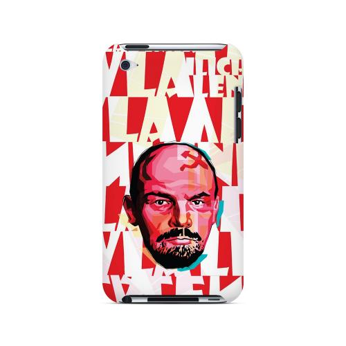 Lenin Complex on Red - Geeks Designer Line Revolutionary Series Hard Case for Apple iPod Touch 4