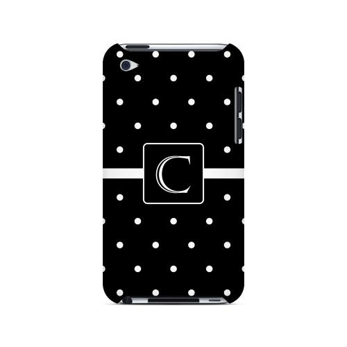 C on Classic Mini Polka Dots - Geeks Designer Line Monogram Series Hard Case for Apple iPod Touch 4