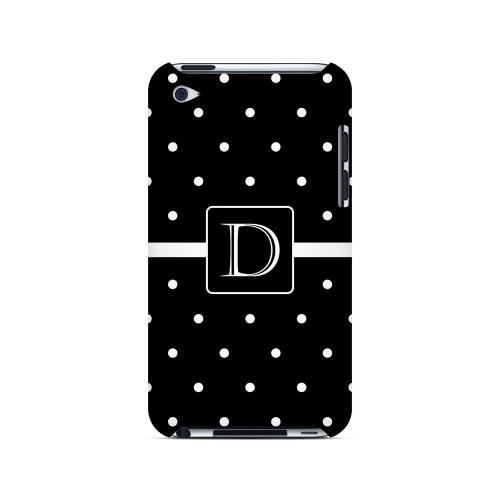 D on Classic Mini Polka Dots - Geeks Designer Line Monogram Series Hard Case for Apple iPod Touch 4