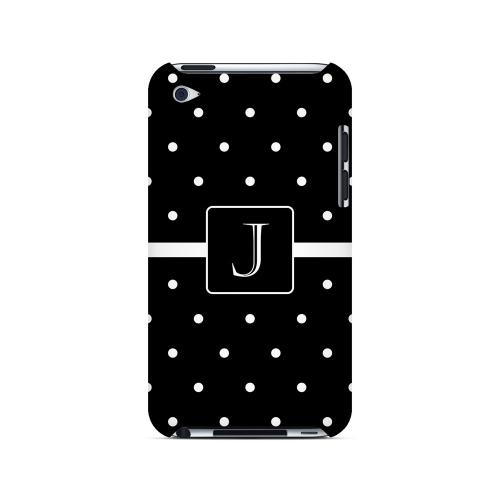 J on Classic Mini Polka Dots - Geeks Designer Line Monogram Series Hard Case for Apple iPod Touch 4