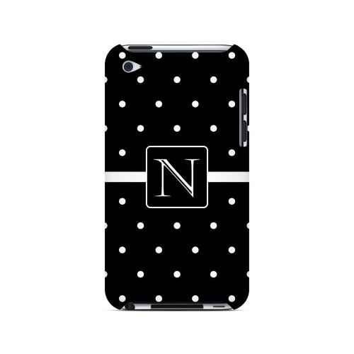N on Classic Mini Polka Dots - Geeks Designer Line Monogram Series Hard Case for Apple iPod Touch 4