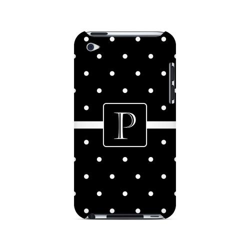 P on Classic Mini Polka Dots - Geeks Designer Line Monogram Series Hard Case for Apple iPod Touch 4
