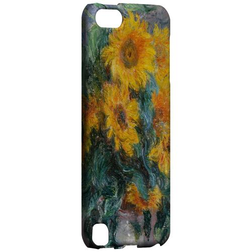 Geeks Designer Line (GDL) Slim Hard Case for Apple iPod Touch 5 - Claude Monet Bouquet of Sunflowers