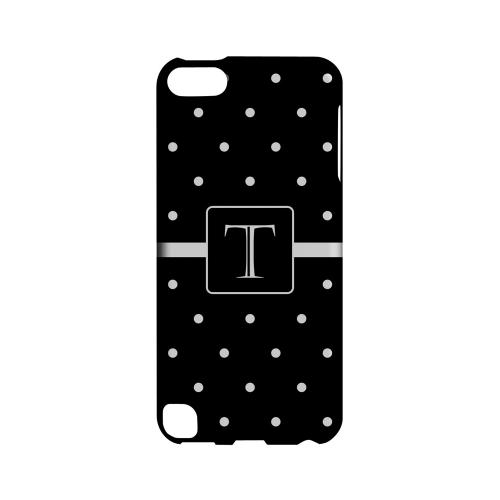 T on Classic Mini Polka Dots - Geeks Designer Line Monogram Series Hard Case for Apple iPod Touch 5