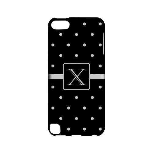 X on Classic Mini Polka Dots - Geeks Designer Line Monogram Series Hard Case for Apple iPod Touch 5