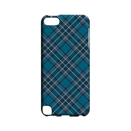 Dark Aqua/ White Plaid - Geeks Designer Line Checker Series Hard Case for Apple iPod Touch 5