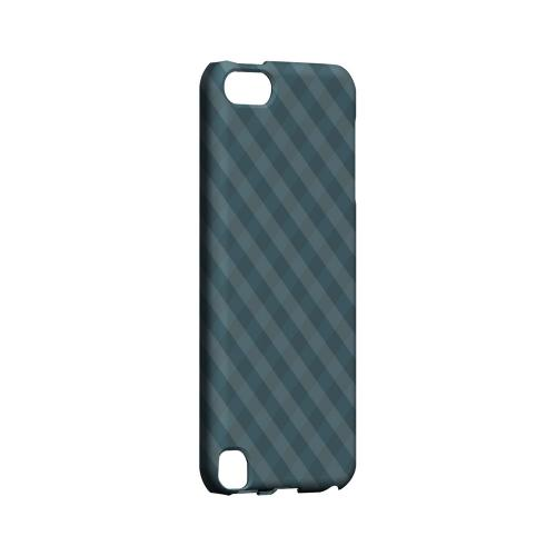 Blue/ Green/ White/ Gray Plaid - Geeks Designer Line Checker Series Hard Case for Apple iPod Touch 5