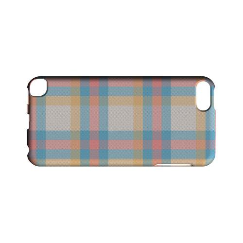 Blue/ Pink/ Orange Plaid Fabric - Geeks Designer Line Checker Series Hard Case for Apple iPod Touch 5