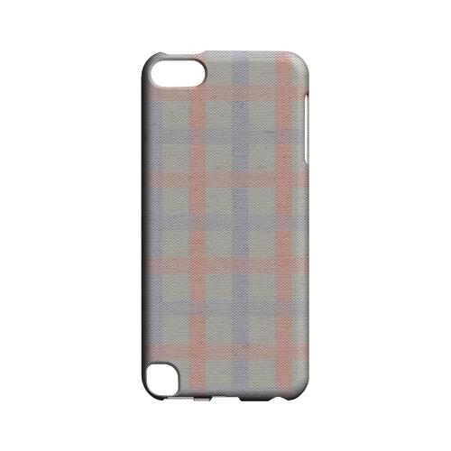 Faint Red/ Blue/ Gray Plaid - Geeks Designer Line Checker Series Hard Case for Apple iPod Touch 5