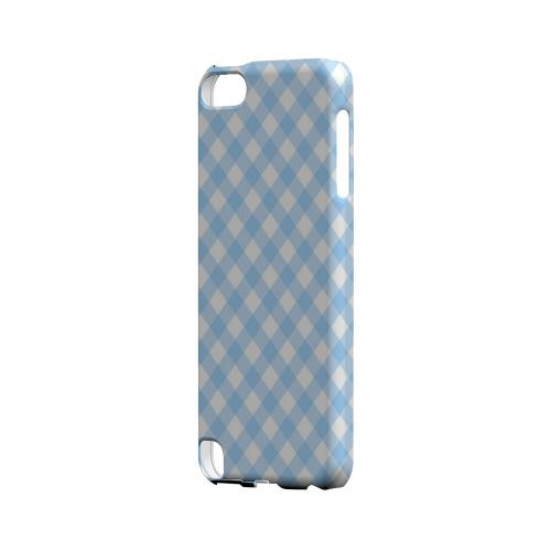 Light Blue Plaid - Geeks Designer Line Checker Series Hard Case for Apple iPod Touch 5