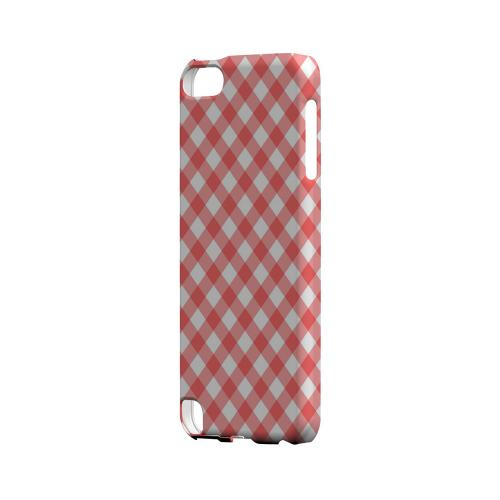 Light Red Plaid - Geeks Designer Line Checker Series Hard Case for Apple iPod Touch 5