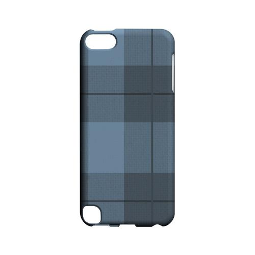 Off-Centered Zoom Blue Plaid - Geeks Designer Line Checker Series Hard Case for Apple iPod Touch 5