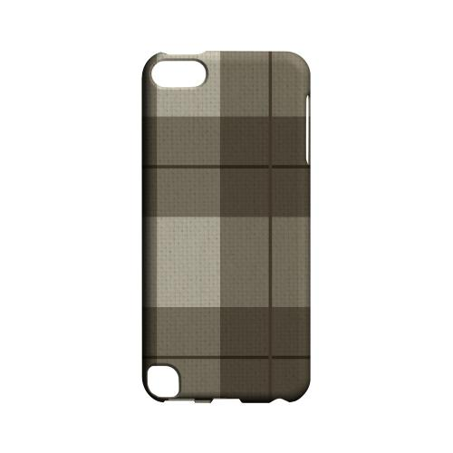 Off-Centered Zoom Brown Plaid - Geeks Designer Line Checker Series Hard Case for Apple iPod Touch 5