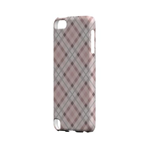 Pink/ Gray Plaid - Geeks Designer Line Checker Series Hard Case for Apple iPod Touch 5