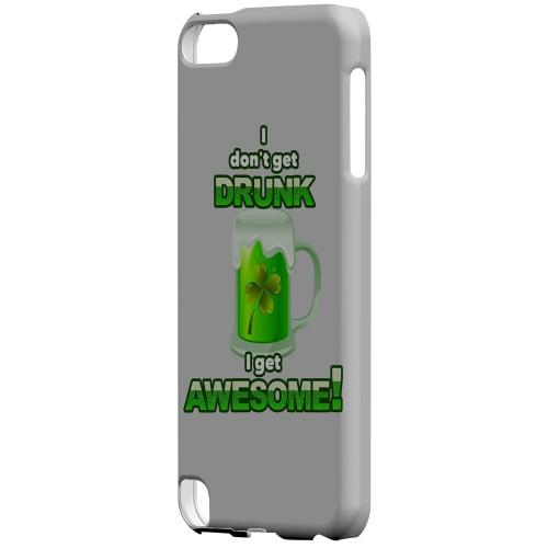 I Get Awesome - Geeks Designer Line Holiday Series Hard Case for Apple iPod Touch 5