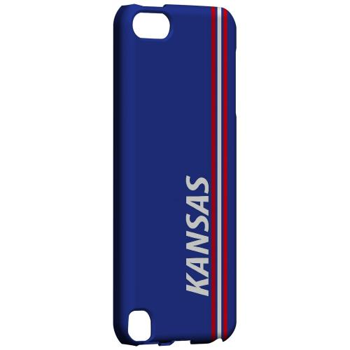 Kansas - Geeks Designer Line March Madness Series Hard Case for Apple iPod Touch 5