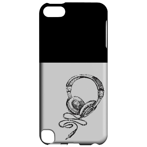 Head Bobbing Black - Geeks Designer Line Music Series Hard Case for Apple iPod Touch 5