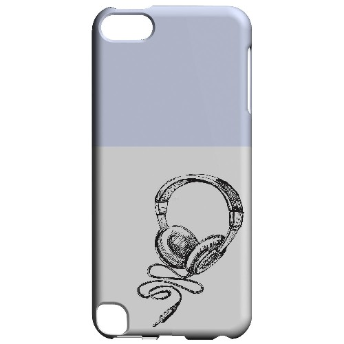 Head Bobbing Faint Blue - Geeks Designer Line Music Series Hard Case for Apple iPod Touch 5