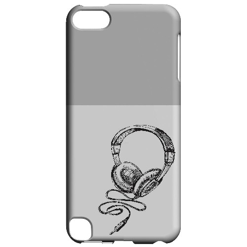 Head Bobbing Gray - Geeks Designer Line Music Series Hard Case for Apple iPod Touch 5