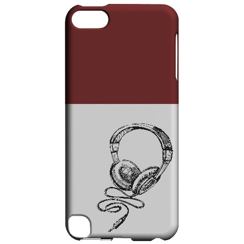 Head Bobbing Maroon - Geeks Designer Line Music Series Hard Case for Apple iPod Touch 5