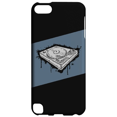 Wheel of Steel Blue - Geeks Designer Line Music Series Hard Case for Apple iPod Touch 5