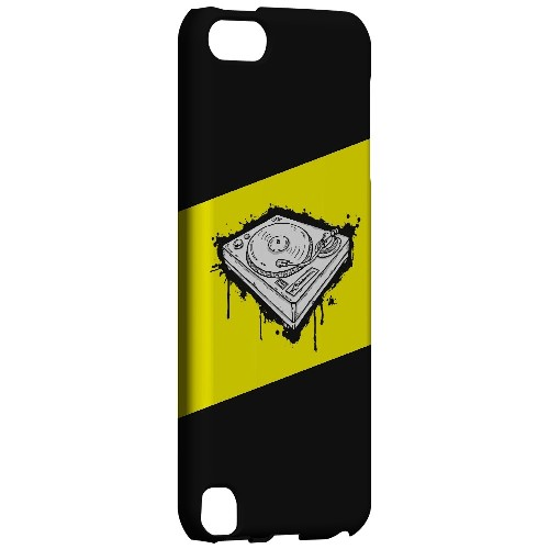 Wheel of Steel Yellow - Geeks Designer Line Music Series Hard Case for Apple iPod Touch 5