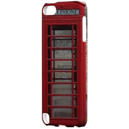 English Telephone Booth - Geeks Designer Line Humor Series Hard Case for Apple iPod Touch 5