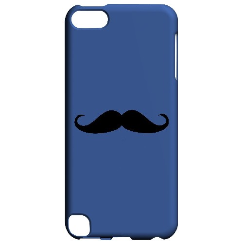 Mustache Blue - Geeks Designer Line Humor Series Hard Case for Apple iPod Touch 5