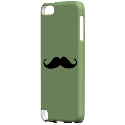 Mustache Greenish - Geeks Designer Line Humor Series Hard Case for Apple iPod Touch 5