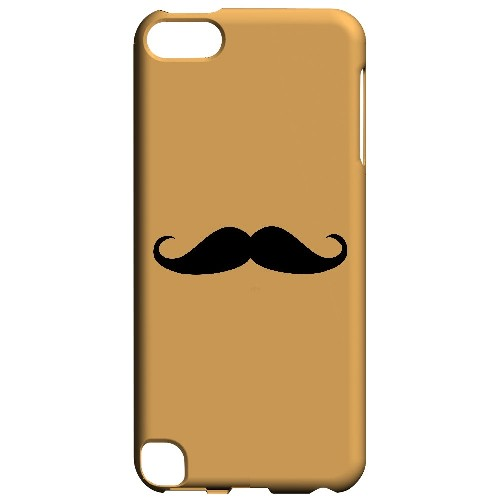 Mustache Orange - Geeks Designer Line Humor Series Hard Case for Apple iPod Touch 5