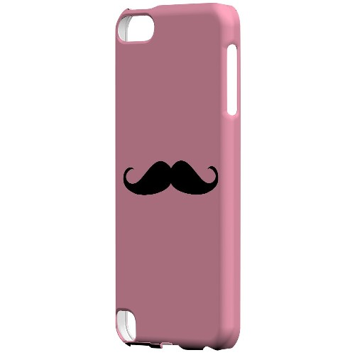 Mustache Pink - Geeks Designer Line Humor Series Hard Case for Apple iPod Touch 5