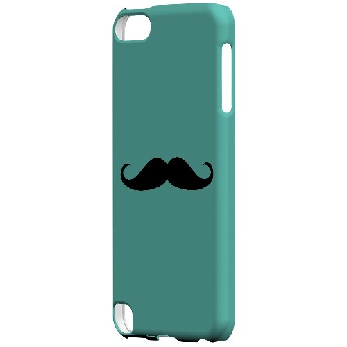 Mustache Teal - Geeks Designer Line Humor Series Hard Case for Apple iPod Touch 5