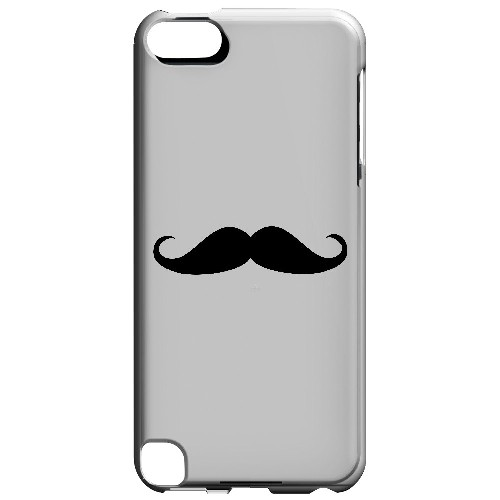 Mustache White - Geeks Designer Line Humor Series Hard Case for Apple iPod Touch 5