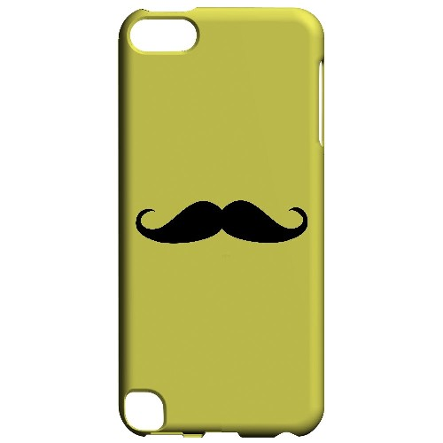 Mustache Yellow - Geeks Designer Line Humor Series Hard Case for Apple iPod Touch 5