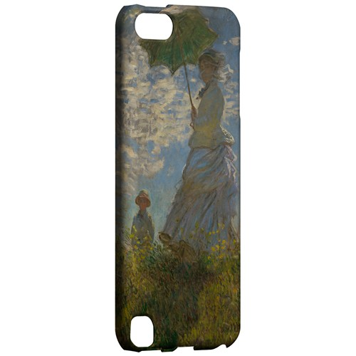 Woman with a Parasol - Madame Monet and Her Son by Claude Monet - Geeks Designer Line Artist Series Hard Case for Apple iPod Touch 5
