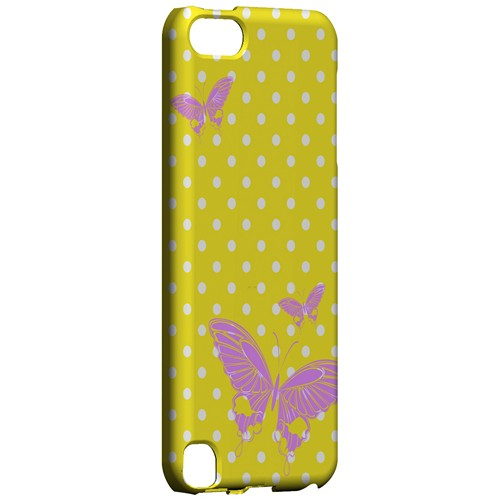 Pink Butterfly on White Polka Dots - Geeks Designer Line Spring Series Hard Case for Apple iPod Touch 5