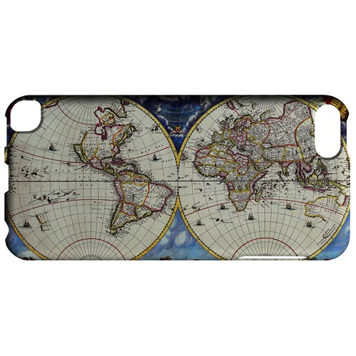 Terrarum Orbis Tabula Pictomap - Geeks Designer Line Map Series Hard Case for Apple iPod Touch 5