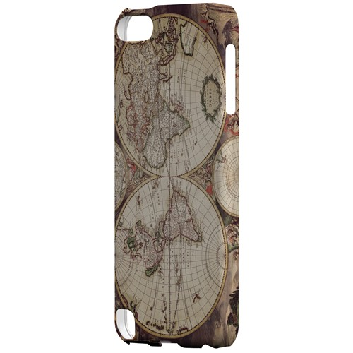 Terrarum Orbis - Geeks Designer Line Map Series Hard Case for Apple iPod Touch 5