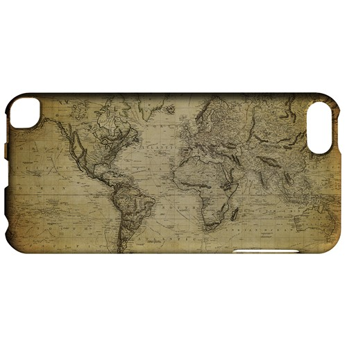 Vintage World Map Circa 1800's - Geeks Designer Line Map Series Hard Case for Apple iPod Touch 5