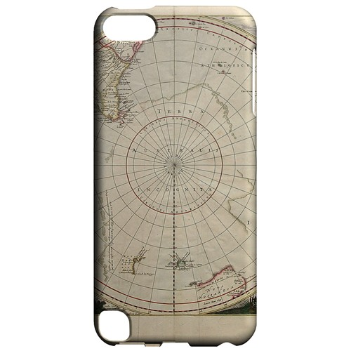Terra Australis Incognita - Geeks Designer Line Map Series Hard Case for Apple iPod Touch 5