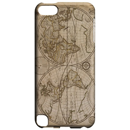 Carte Generale du Monde 1676 - Geeks Designer Line Map Series Hard Case for Apple iPod Touch 5