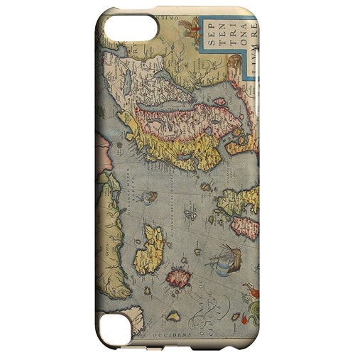 Ancient Map of Europe - Geeks Designer Line Map Series Hard Case for Apple iPod Touch 5