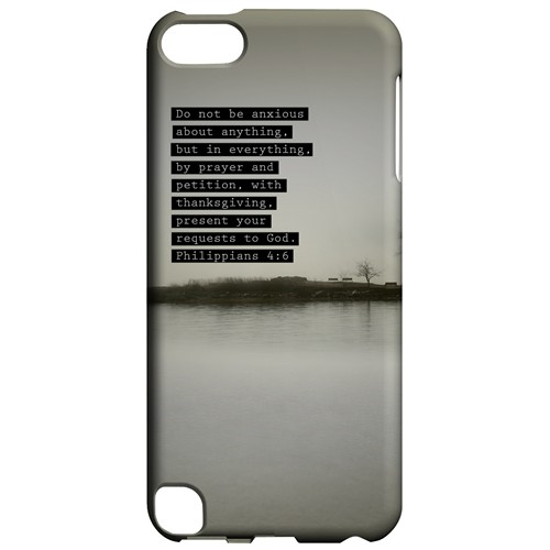 Philippians 4:6 - Geeks Designer Line Bible Series Hard Case for Apple iPod Touch 5
