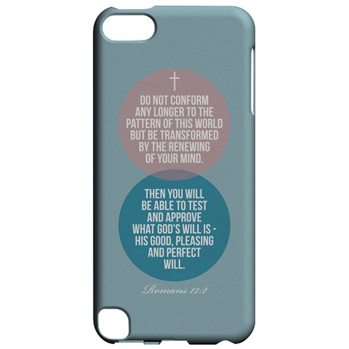 Romans 12:2 - Geeks Designer Line Bible Series Hard Case for Apple iPod Touch 5