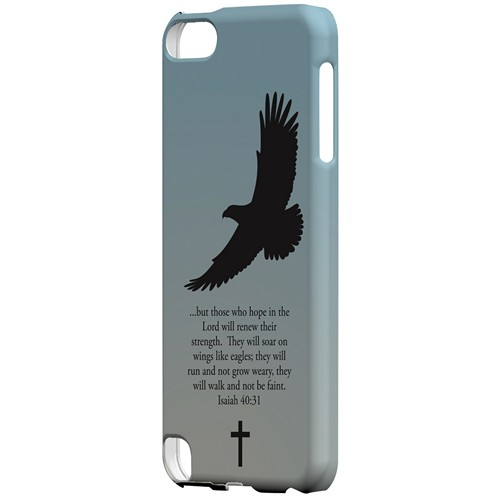 Isaiah 40:31 - Faint Blue - Geeks Designer Line Bible Series Hard Case for Apple iPod Touch 5